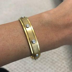 henri bendel Jewelry - Henri Bendel Screw You Baby Cuff - Gold